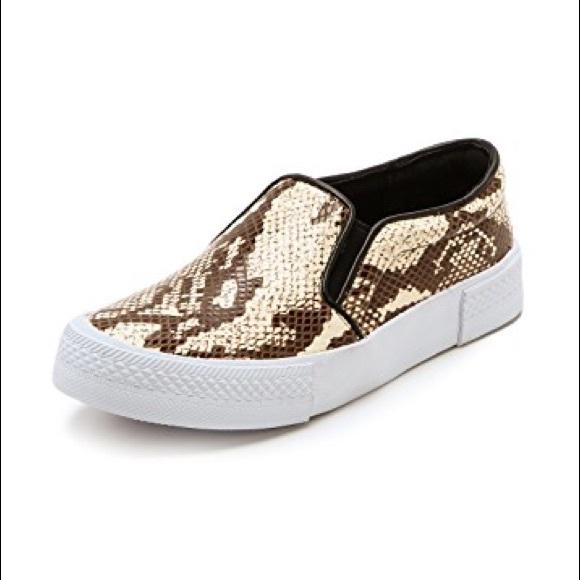 c73ce1044f5 Steve Madden Snake Print Slip On Leather Sneakers